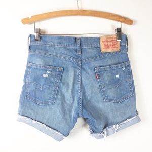 Levi's 513 High waisted Cut Off Jean Shorts